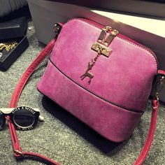 vintage Nubuck Leather Women Bags Fashion Small Shell Bag Women Shoulder Bag Summer Casual Crossbody Bag