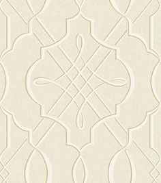Concetta (33941) - Albany Wallpapers - A bold symmetrical heraldic motif in an all over repeat, on a crushed velvet effect textured background. Shown in the cream. Vinyl. Please request sample for true colour match.