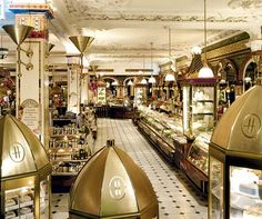 Harrods Chocolate room - Love the selection...and ostentatious display of chocolate! What a great store.