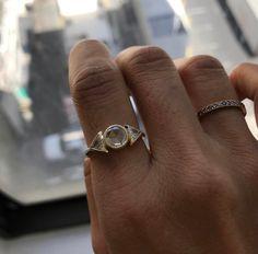 Custom Diamond Spear ring.