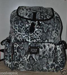 b2df9f475b4 Victoria secret pink bling backpack book bag bag handbag cheetah animal  print