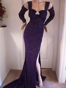drag queen pageant | Drag Queen Sexy Hologram Glitter Pageant Stage Dress Gown XL XXL ...