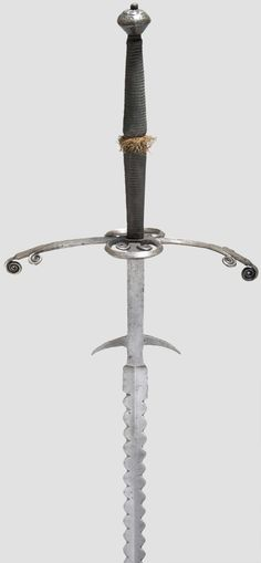 Arm the Armour — A flamberged Zweihander, German, ca. 1580, from...