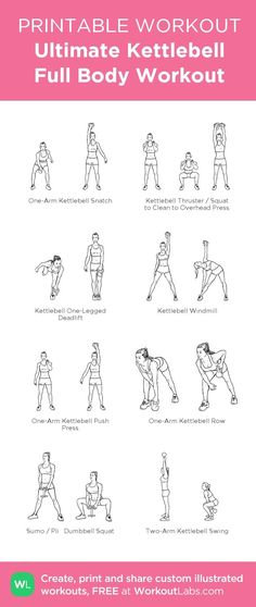 Ultimate Kettlebell Full Body Printable Workout – my custom workout created at… – Boxen und Krafttraining Kettlebell Training, Kettlebell Challenge, Kettlebell Cardio, Workout Challenge, Kettlebell Benefits, Full Body Kettlebell Workout, Kettlebell Routines, Fitness Workouts, At Home Workouts