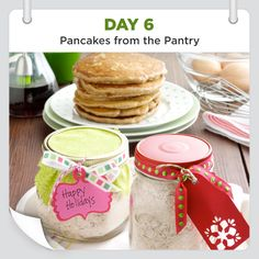 25 Days of Christmas Cheer :: Day 6 :: Pancakes from the Pantry Recipe from Taste of Home -- shared by the Taste of Home Test Kitchen