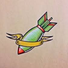 Image result for bomb tattoo drawing