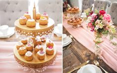 CHOUX Bakery cream puffs topped with rose petals make a lovely edible centerpiece Edible Centerpieces, Pink And Gold Wedding, Home Bakery, Tea Party Birthday, Bridal Shower Party, Specialty Foods, Let Them Eat Cake, Afternoon Tea, Nom Nom