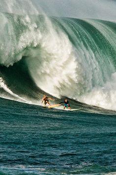 sharing a big, big wave