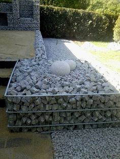 gabion or water feature-open on the top.