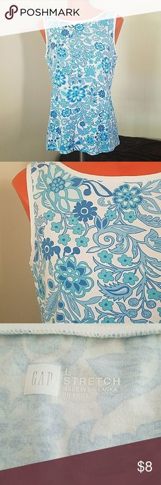 Gap floral top Pretty and stretchy. In good condition. Gap  Tops