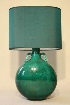 Beautiful Jade Lamp By Paul Millais For Sevres C1950 From DC Member Kiki  Design