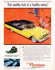 Pontiac Chieftain 870 V8 Catalina 1955 - Mad Men Art: The 1891-1970 Vintage Advertisement Art Collection