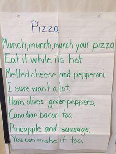 Pizza poem Preschool Cooking, Preschool Songs, Preschool Classroom, Preschool Learning, Early Learning, Preschool Restaurant, Restaurant Themes, Pizza Restaurant, Kids