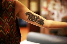 *not my tattoo* This is my first tattoo right after it was completed (3 hours, no breaks). Elephants are such a strange significance in my life. Ever since I was a toddler I've been drawn to them, collected little figurines, learned what I can. Elephants are a strong foundation to me and a signifier to remember my experiences. They are my spirit animal.  Done at Skeleton Key Tattoo in Portland, OR.