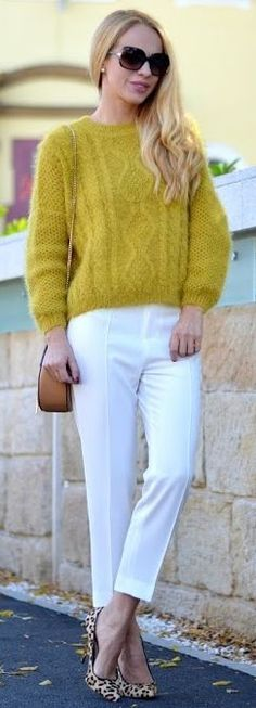 Loving Evelyn Mustard Fluffy Cable Knit Sweater Fall Streetstyle women fashion outfit clothing stylish apparel @roressclothes closet ideas