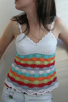 crochet- an edging like this might look good on the bottom of one or two tshirts that are a tad short