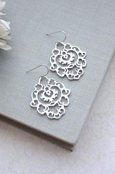 Beautiful Silver Drop Earrings