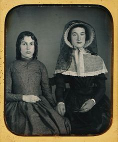 1 6 Plate Daguerreotype Stunning Dag of Two Young Ladies Amazing Fashions | eBay. Either late #840's or early 1850's.