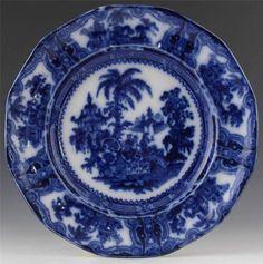 Ceramics & Porcelain Victorian Rare Flo Blue Plate Warmer Late 19th Century In Vgc Antiques