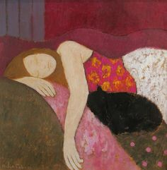 huariqueje:  Sleeping in the Afternoom - Helen Tabor British b.1960-