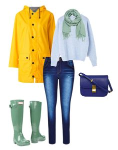 Сочетание синего и жёлтого цвета в одежде