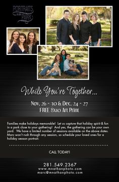 Check out our December special! Still spots available. #houston #family