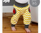 Childrens pants pdf pattern and tutorial, Faux pockets, sizes 0-6T ..instant download -Pattern 6