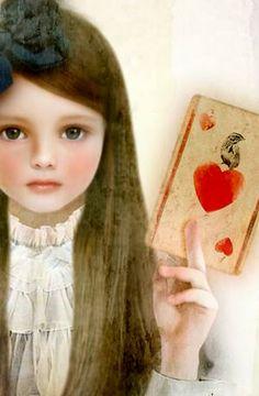 Alice in the autumn/ Miharu Yokota Artwork Alice In Wonderland Illustrations, Exotic Art, Fun Illustration, Painting Of Girl, Fantasy Images, Adventures In Wonderland, Jolie Photo, Art And Technology, Vintage Girls