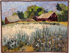 Quilted Wall Hanging ~ 2 old barns