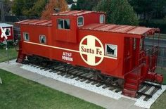 Woodrow House Bed & Breakfast in Lubbock, TX has a caboose suite in the backyard where you can stay!