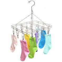 Stainless Steel 20 Clip Drying Hanger Rack for Hanging Clothes / Towels MyGift http://smile.amazon.com/dp/B00IT2SN3C/ref=cm_sw_r_pi_dp_GnGDvb01CYT6K