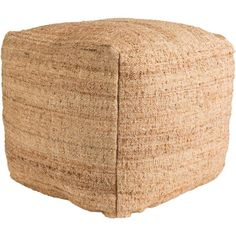 Artistic Weavers Aere Camel Accent Pouf Ottoman S00151085128 - The Home Depot Leather Pouf, Leather Ottoman, Pouf Ottoman, Leather Sofas, Jute, How To Clean Pillows, Patterns In Nature, Accent Furniture, Modern Furniture