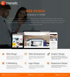 Immense Art is a #Chandigarh #best #web #designing #company offering high quality custom #website #design & #development #services in #India.We are team of quite competent, technically skilled web #designers and #developers well versed, experienced & full of creation.We are a specializing in professional webs design, web development, graphic design, e-marketing, logo design and #responsive web design.