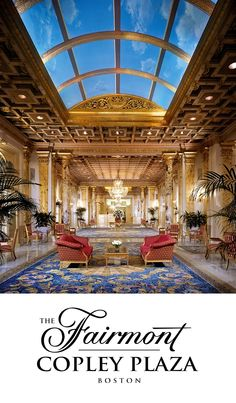 The Fairmont Copley Plaza on Pinterest → @The Fairmont Copley Plaza | One of the loveliest places to stay in Boston.