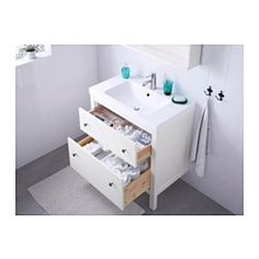"HEMNES / ODENSVIK Sink cabinet with 2 drawers, white - 31 1/2x19 1/4x35 "" - IKEA"