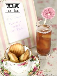 This pomegranate iced tea is refreshing and delicious for summer or for a tea party.
