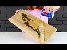 Wood Burning with Lightning and Pepsi - YouTube