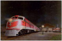 Artesia- 1944. Gulf Mobile & Ohio Railroad's northbound passenger train