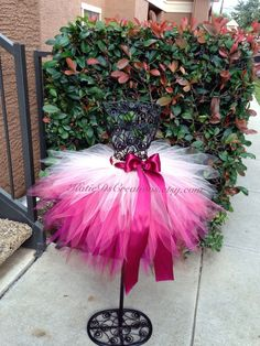 Burgundy Fuchsia Coral and Beige Ombre Tutu / by KatieDsCreations, $25.00