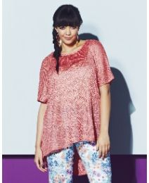 Open Knit Glitter Knit - Length to front from 27in at Simply Be