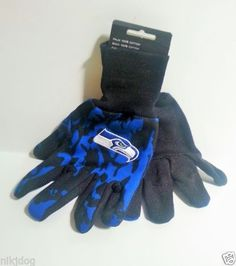 Seattle-Seahawks-No-Slip-Grip-Utility-Work-Gloves-Licensed-Original