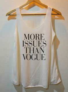 More Issues Than Vogue Funny Punk Rock Tank Top by the3gethershop