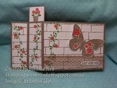 Stampin' it up with Belinda: Wiper cards. Featuring Home for Christmas dsp, Sprinkles of Life & Floral Wings.