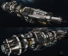 """USR """"Destroyer"""" - Fractured Space, Hans Palm on ArtStation at https://www.artstation.com/artwork/usr-destroyer-fractured-space"""
