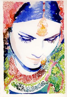 Is this not such a stunning work of art? Watercolor Art by Cate Parr