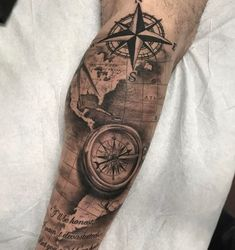 Compass tattoo designs ideas and meanings // august 2019 - tattoos - . - Compass tattoo designs ideas and meanings // august 2019 – tattoos – - Retro Tattoos, Map Tattoos, Trendy Tattoos, Popular Tattoos, Forearm Tattoos, Tattoos For Guys, Leg Sleeve Tattoos, Leg Quote Tattoo, Calf Tattoo