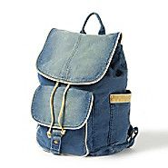 Denim backpack from Claire's.