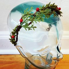 This rustic woodland headband is a great for subtle and elegant look for any time of year. Wrapped with lightweight metal star garland and red berries, this rustic woodland headband is the perfect accent piece for the every day free spirit, or at music festivals, or for any celebration of life.
