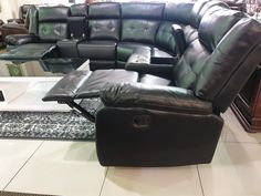 Byron Corner Lounge Suite – Clearance Warehouse South Africa Leather Air – Soft and durable air leather, also known as leath-aire, which is a woven fabric made to look and feel like leather, but have the breathability for a more comfortable feel depending on the seasons.  3 times thicker than normal PU/Synthetic leather. Lounge Suites, Leather Recliner, Woven Fabric, Warehouse, South Africa, Corner, Seasons, Times, Chair