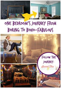 Turning a boring bedroom into a boho fabulous bedroom, perfectly styled for a teenage girl!  Follow the journey on the blog!
